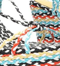 Sandália Anabela Freshfull Braid Multicolorida