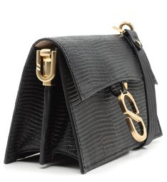 "Crossbody ""A to Z"" Lezard Black"