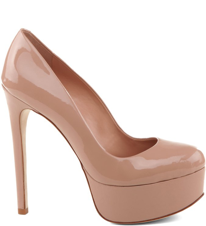 Scarpin Retrô  Diva High Peach
