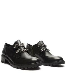 Sapato Oxford Tratorado Corrente Preto