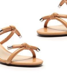 Sandália Mule Block Heel Knots Toasty