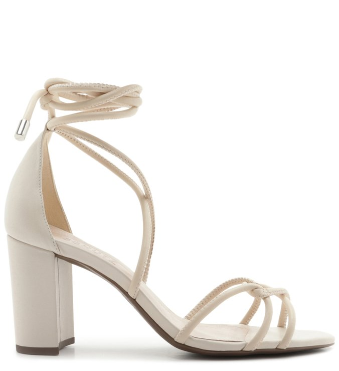 Sandália Strings Lace-Up White | Schutz