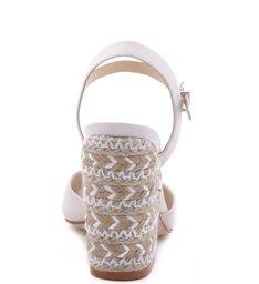 Sandália Salto Bloco Bordado Pearl