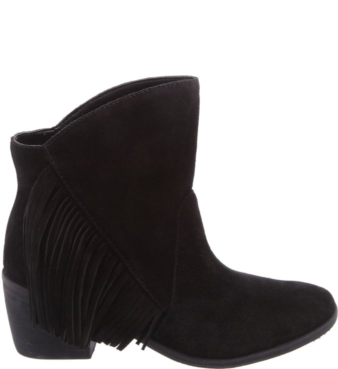 Folk Fringes Boot Black