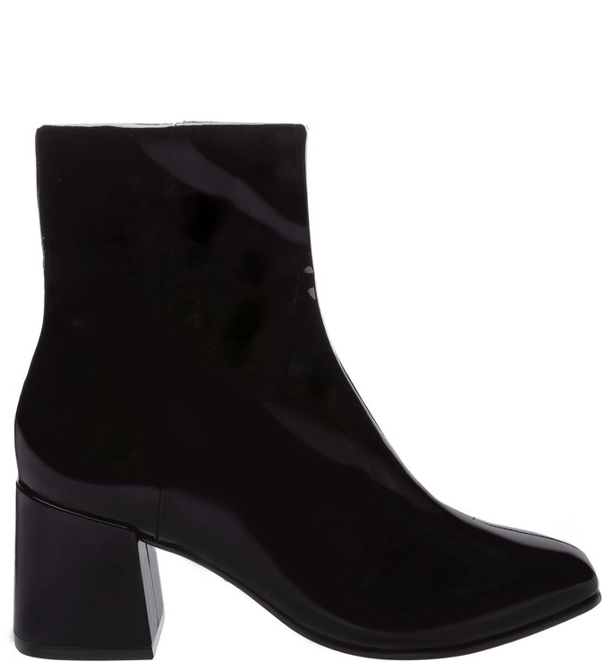 Bota Block Heel Verniz Black | Schutz