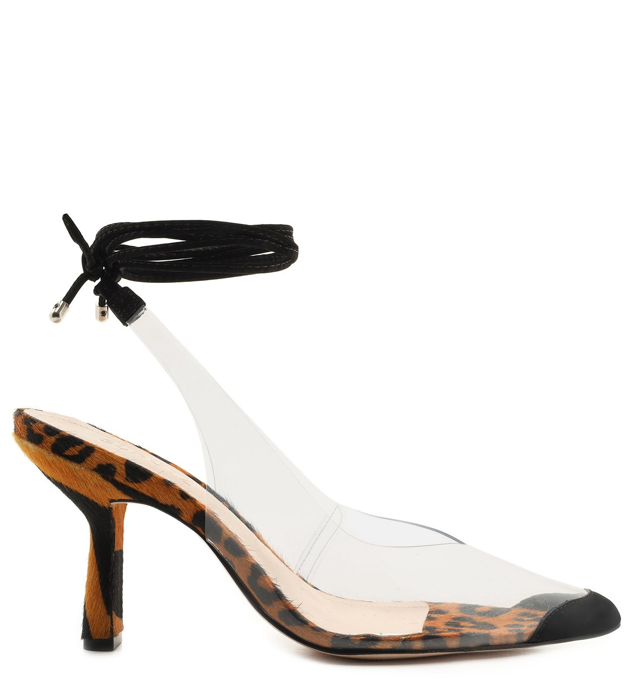 Scarpin Lace-Up Vinil Clear Animal Print | Schutz