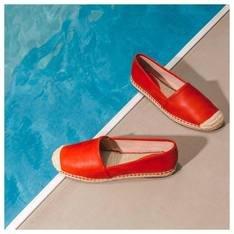 Espadrille Leather Red Orange