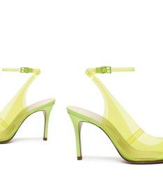 Sapato Scarpin Vinil Amarelo