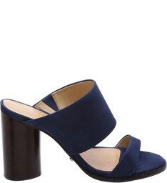 Mule Oval Heel Dress Blue