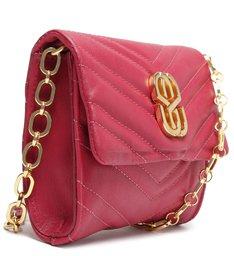 Bolsa Tiracolo Pequena Your Choice Glam Vermelha