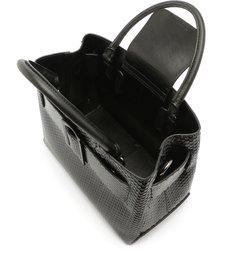 Buckle Bag Tote Bright Snake Black