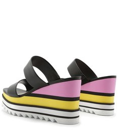 SANDÁLIA ANABELA SPORTY MULTICOLOR/BLACK