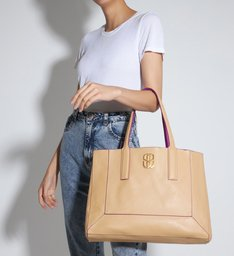 Shopping Bag Double Face Pink/Neutral