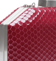 Clutch Serena Bright Snake Red