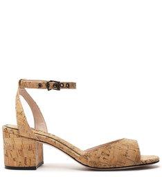 Sandália Block Heel Cortiça Natural