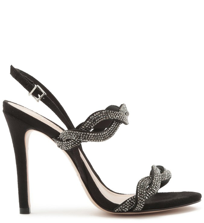 Sandália Glam Braid Crystal Black | Schutz