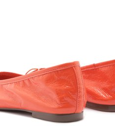 SAPATILHA BALLERINA GLOSSY ORANGE