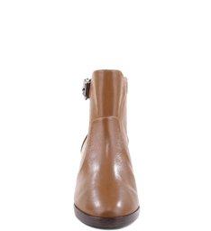Natural Folk Burned Leather Boots Wood