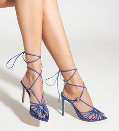 Sandália High Lace-Up Strings Royal Blue