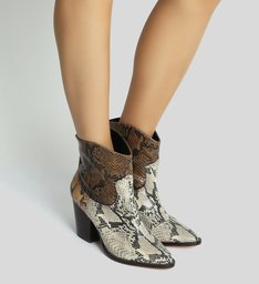 Bota Western Mix Animal Print