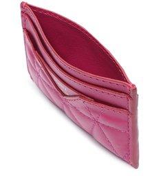 Porta Cartão 944 Couro Matelassê Pink