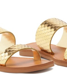 SLIDE TIRAS BRIGHT SNAKE GOLD
