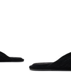 Homewear Flat Flip Flop Sarah Velvet Black