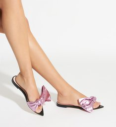 SLIDE FLAT LUCY TRANSPARENT PINK