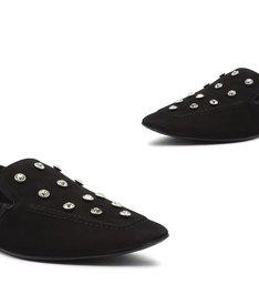 Loafer MaxiStuds Suede Black