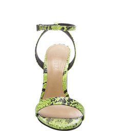 Sandália Salto Crystal Snake Neon