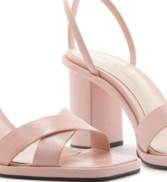 Sandália Salto Straps Rose