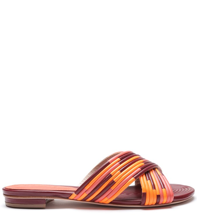 Slide Cross Full Strap Metallic Coral | Schutz