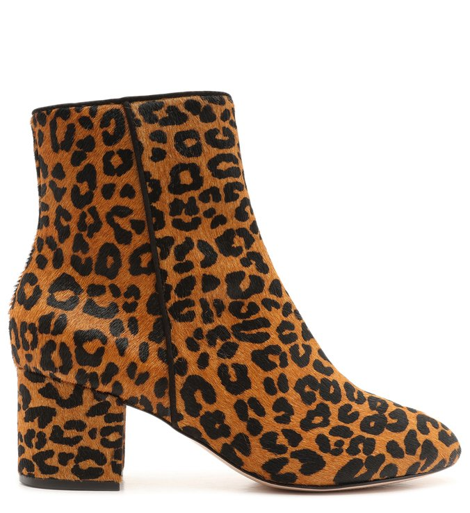 Bota Block Heel Soft Animal Print