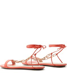 Flat Lace-Up Fun Chain Coral