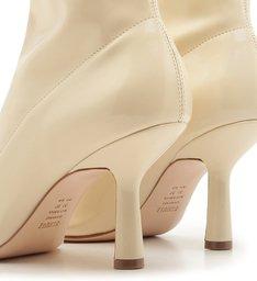 Bota Vintage Mid Heel Verniz White