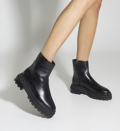 Flat Boot Bikers Tratorada Minimal Black