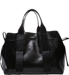 Shopping Maxxi Bag Bright Snake Black