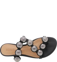 Flat Slide Metallic Balls Black