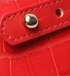Bolsa Tiracolo Pequena Mila Croco Vermelha