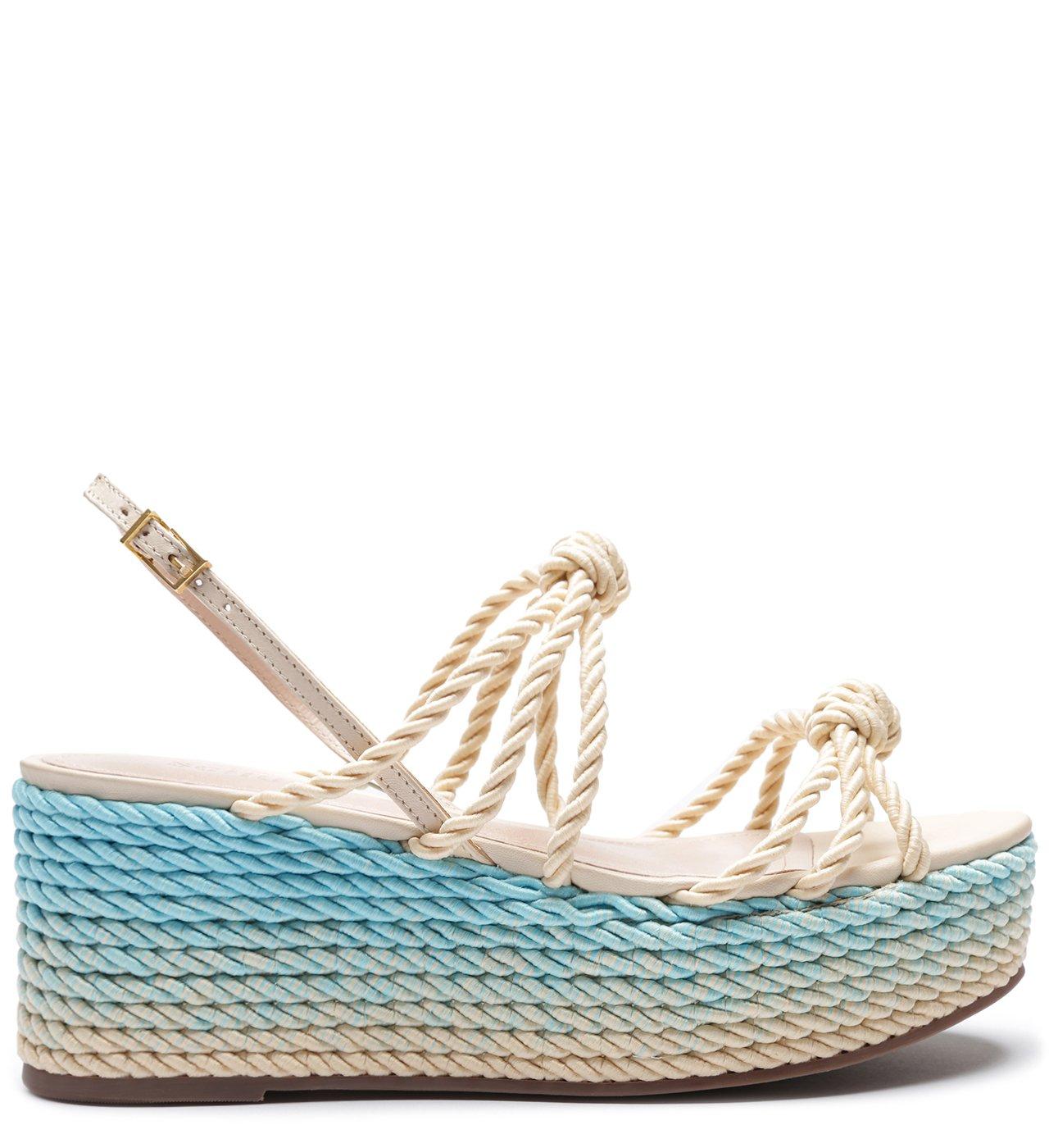 Sandália Flatform Tressê Tie-Dye Blue | Schutz