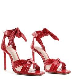 Sandália Knot Texture Red
