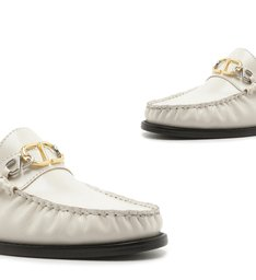 Mocassim Leather Verniz White