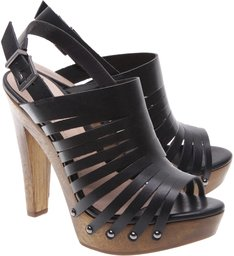 Sandália Wood Multi Stripe Black