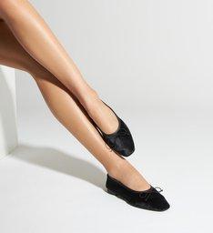 Sapatilha Ballerina Veludo Black