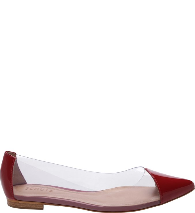 Sapatilha Pointy Crystal Red