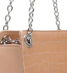 Mini Shoulder Bag Merlin Croco Amendoa