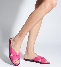 Sandália Rasteira Nylon Pink