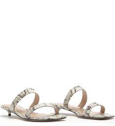 Sandália Mule Micro Heel Python
