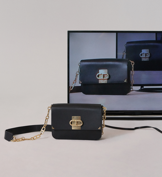 Crossbody Blue Bag Premium Black