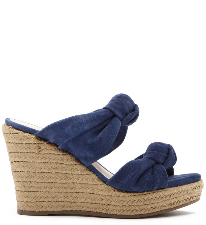 Sandália Anabela Corda Knot Blue | Schutz